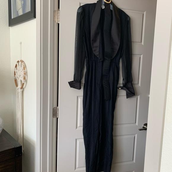 Vintage Pants - 80's Black Jumper Size 4/5
